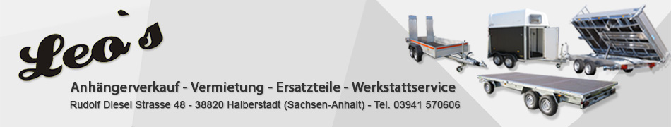 Leos Anhängerverkaufverkauf und -vermietung, 38820 Halberstadt - Anhänger günstig kaufen