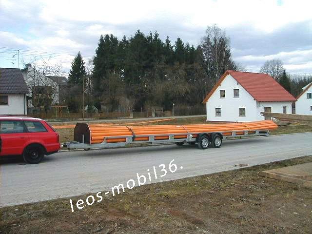 Unsinn GTR 2610-14-1310 2600kg 10,50 x 1,31 Rohranhänger Langmaterialanhänger Langrohranhänger