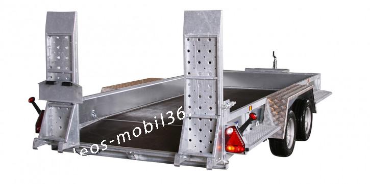 Variant 3518 B4 3500 kg Blattfeder 4.00 x 1.80 Bagger Baumaschinen Baggeranhänger