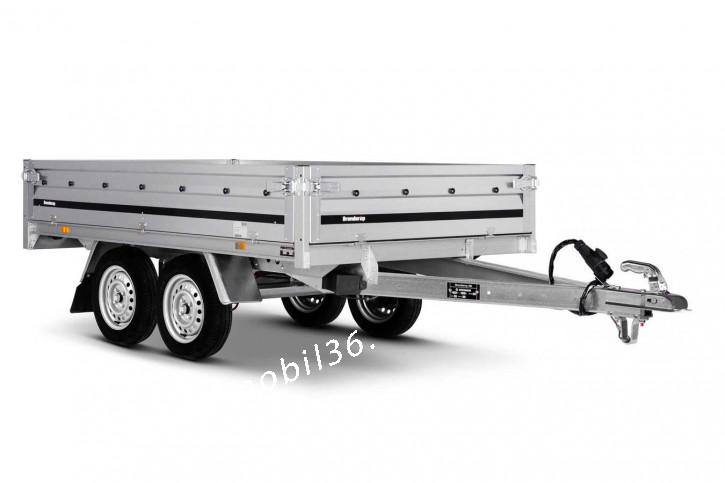 Brenderup 3251 STUB Hochlader 750 kg Stahl 2.50 x 1.42 Tandem Überlader 2-Achser ungebremst