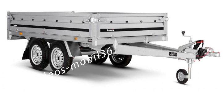 Brenderup 3251 STB Hochlader Überlader 1000kg 2.50x1.42 Stahlbordwände Stützrad gebremst