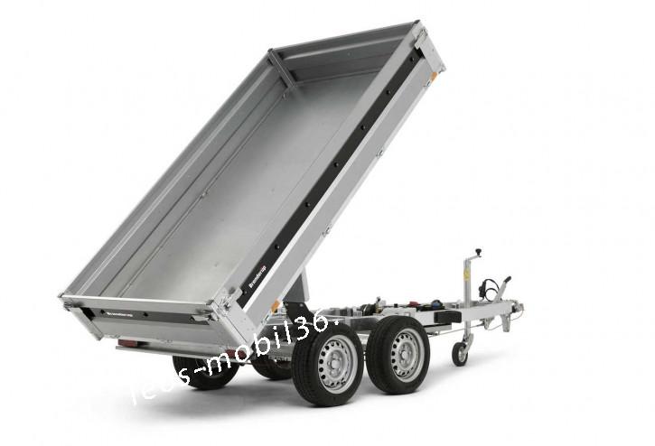 Brenderup BT 4260STB2500 E-Pumpe STAHL-Bordwände Rückwärtskipper Heckkipper 2.58x1.43 2500kg Stahlboden