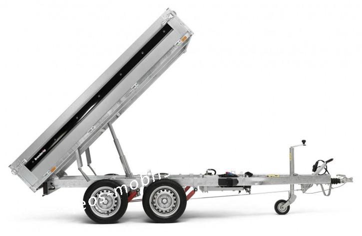Brenderup BT 4260STB2000 E-Pumpe STAHL-Bordwände Rückwärtskipper Heckkipper 2.58x1.43 2000kg Stahlboden