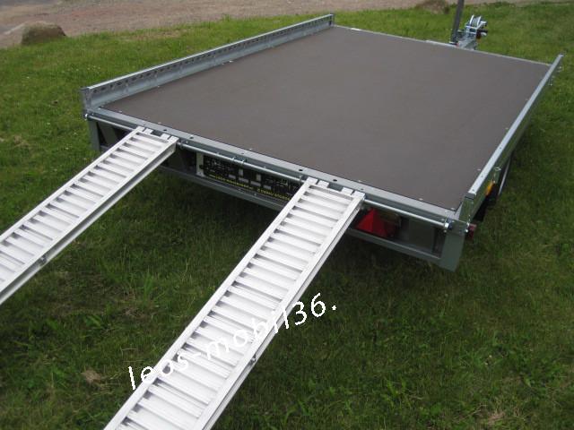 Stema CARRIER XL 3.00 x 2.00 inkl. 100 km/h geschlossene Ladefläche 1500 kg Plattform inkl.2x Auffahrschienen Trailer Autotransporter Hochlader Überlader Smartanhänger mit Seilwinde
