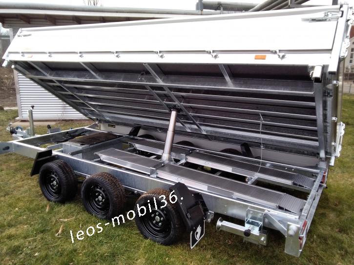 Hapert COBALT HM-3 Jumbo TRIDEM (Multi) 3500 kg Blattfedern Parabelfedern 100 km/h Zulassung 4.05 x 2.00 E-Pumpe mit Batterie und Fernbedienung Dreiseitenkipper 3-Seiten-Kipper ALU-Bordwände Auffahrschienen und Heckstützen