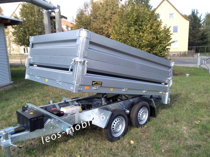 Brenderup E-Pumpe Heckkipper Rückwärtskipper 2000 kg 2.56 x 1.51 x 0.35 Stahl-Bordwände Pendelklappe
