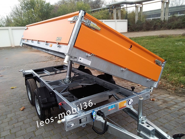 Hapert COBALT HM-2 Dreiseitenkipper 3-Seiten-Kipper 3.35x1.80 3000kg E-Pumpe orange ALU-Bordwände