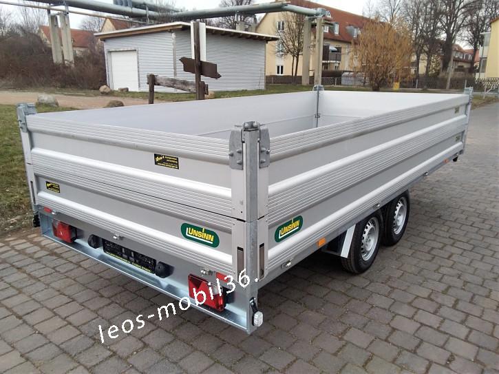 Unsinn Hochlader Überlader 2600 kg 4,26x2,04x0,65 ALU-Bordwandaufsatz