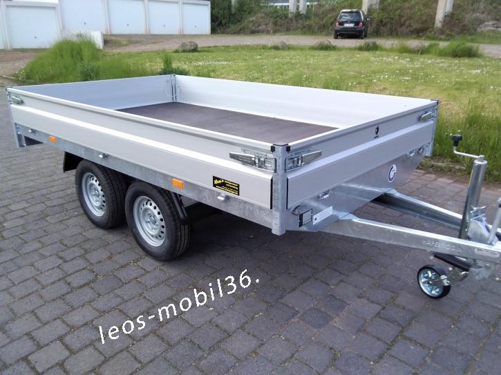 Hapert AZURE H-2 Hochlader Überlader 2000 kg 2,80x1,60 ALU-Bordwände alle 4 Seiten Abnehmbar