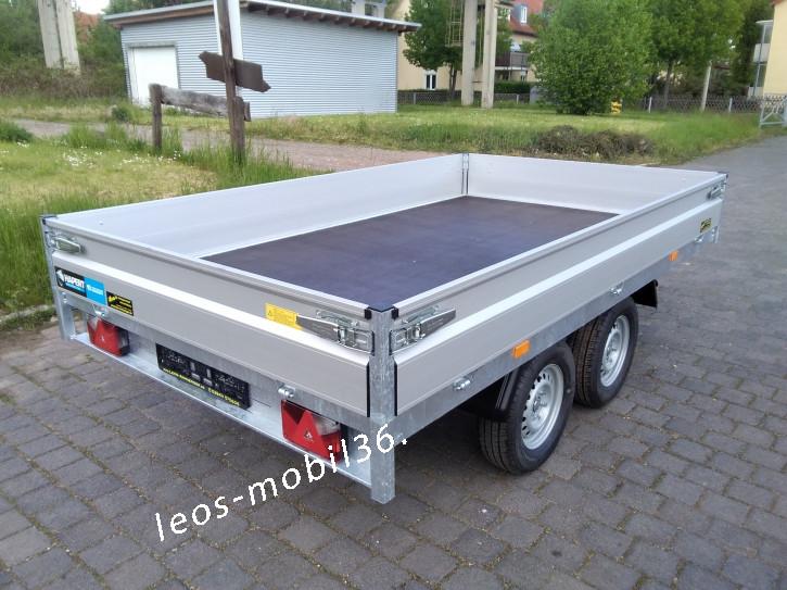 Hapert AZURE H-2 Hochlader Überlader 2000 kg 3,05x1,80 ALU-Bordwände alle 4 Seiten Abnehmbar