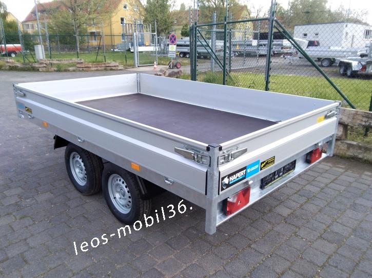 Hapert AZURE H-2 AL 2000 Hochlader Überlader 2000 kg 3,05 x 1,60 ALU-Bordwände alle 4 Seiten Abnehmbar