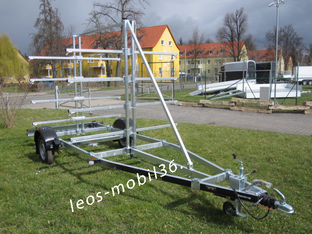Brenderup Kanu Kajak 1000 kg gebremst Modell 161000B CX Stützrad bis 8 Boote 100 km/h Zulassung möglich
