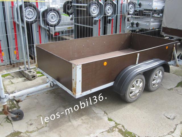 Anhänger Eigenbau 1500 kg Tandem Tieflader 3.00x1.45x0.50 HOLZ-Bordwände Ideal zum Neuaufbau