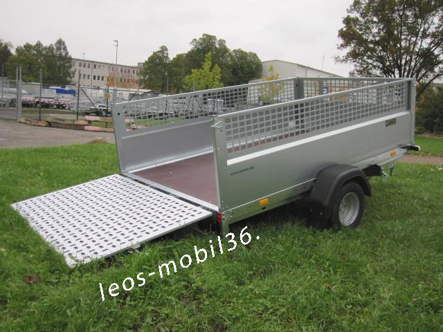 STEMA MUT MU.T 02 13-25-15.1 KIPPBAR 2.50 x 1.53 Stahlblech 1300kg Gitteraufsatz Überfahrwand befahrbar Galabau / Kommunaltechnik / Rasentraktor / Quad / ATV