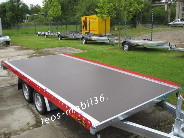 Unsinn PU 2642-13-2040 2600 kg 4.26 x 2.04 Seilwinde Auffahrschienen Universal Auto Transporter Trailer