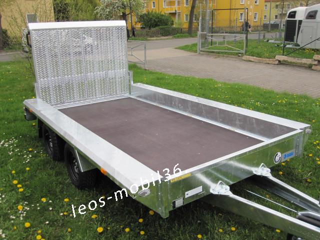 Hapert INDIGO LF-2 Blattfedern Parabelfederachse Baggeranhänger Minibagger 3.60 x 1.74 3500kg Bagger inkl. 100 km/h Zulassung Baumaschienentransporter