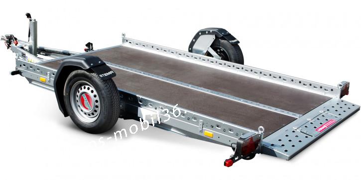 Stema WOM STS XT 02 13-25-15.1 inkl.100 km/h Zulassung 1300 kg Absenkanhänger Absenker 2.50 x 1.53 gebremst Quad Kleinmaschienen Motorrad Smart ATV