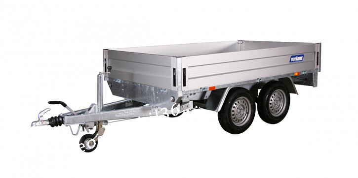 Variant 20P215 P5 ALU-Bordwände Hochlader Überlader 2000 kg Stützrad 2,55x1,45x0,35