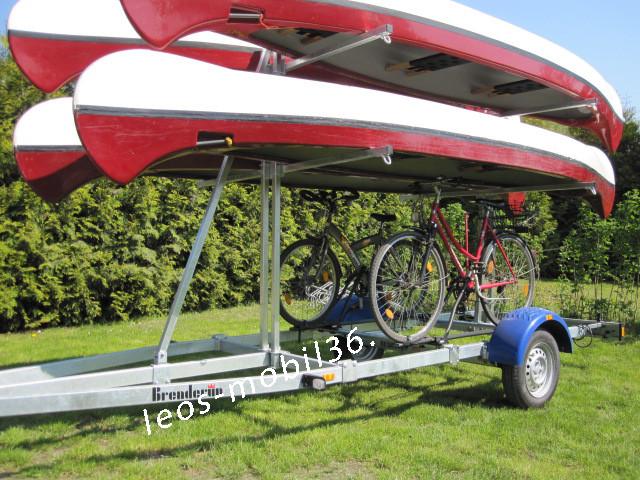 Brenderup 160750UB CX Kanu/Kajak 750 kg bis zu 4 Boote und 4 Fahrräder