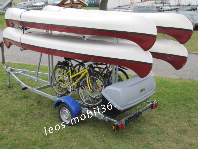 Brenderup 8116B Kanu Kajak 1000 kg gebremst für 4 Boote 4 Fahrräder und THULE BOX und 100 km/h Zulassung
