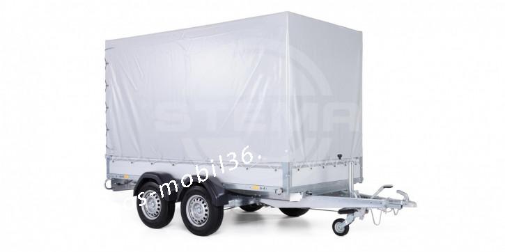 STEMA PKW Anhänger STL 2000 O2 20-30-15.2 3.01x 1.53 x 1.80 mit Plane und Gestell 2000 kg