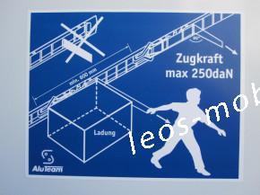 Leos-Anhänger LBK 352824 Reisebus Anhänger, Busanhänger, Bus Fahrschulanhänger, Innenlänge 2.80 Gesamtlänge 4.70 Nightliner Packwagen Kofferanhänger mit Höhenverstellbare Zugdeichsel 3500kg