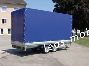 Unsinn LM 2654-14-2040 2600kg 5,46 x 2,04 Langmaterialanhänger Hochlader AUSZIEHBARE Deichsel